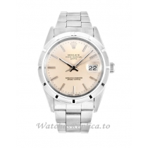 Rolex Oyster Perpetual Date Silver Dial 15210-34 MM