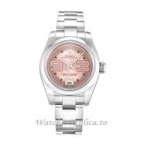 Rolex Lady Oyster Perpetual Salmon Maxi Dial 176200-26 MM