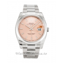 Rolex Oyster Perpetual Date Salmon Dial 115200-34 MM