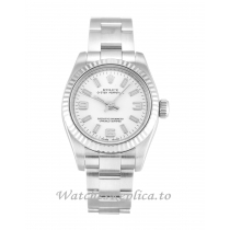 Rolex Lady Oyster Perpetual White Dial 176234-26 MM
