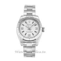 Rolex Lady Oyster Perpetual Silver Dial 176210-26 MM