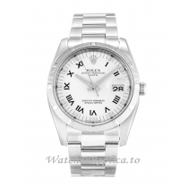 Rolex Oyster Perpetual Date White Dial 115210-34 MM