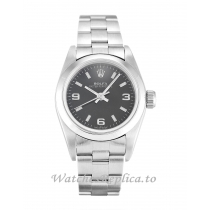 Rolex Lady Oyster Perpetual Black Dial 67180-26 MM