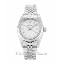 Rolex Lady Oyster Perpetual Silver Dial 76094-26 MM