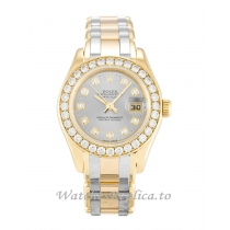 Rolex Pearlmaster Champagne Diamond Dial 80298-29 MM