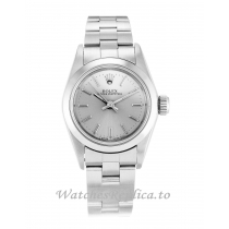 Rolex Lady Oyster Perpetual Silver Dial 67180-26 MM