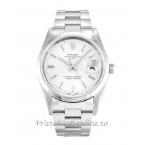 Rolex Oyster Perpetual Date Silver Dial 15200-34 MM