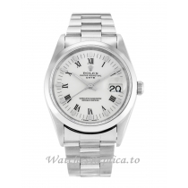 Rolex Oyster Perpetual Date White Dial 15200-34 MM