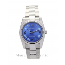 Rolex Lady Oyster Perpetual Blue Dial 177200-26 MM