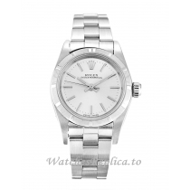 Rolex Lady Oyster Perpetual Silver Dial 67230-26 MM