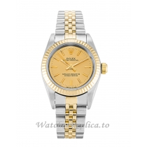Rolex Lady Oyster Perpetual Champagne Dial 76193-24 MM