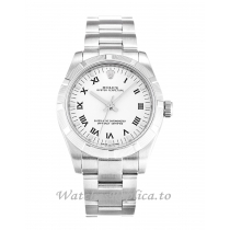 Rolex Lady Oyster Perpetual White Dial 177210-31 MM