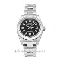 Rolex Lady Oyster Perpetual Black Dial 176200-26 MM