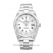 Rolex Oyster Perpetual Date White Dial 15210-34 MM
