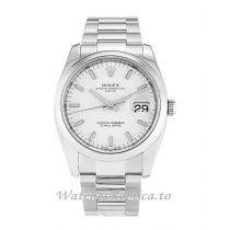 Rolex Oyster Perpetual Date White Dial 115200-34 MM