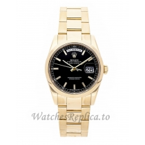 Rolex Replica Day-Date Black Dial 36mm 118208