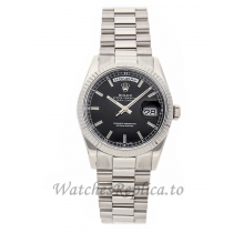 Rolex Replica Day-Date Black Dial 36mm 118239