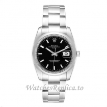 Replica Rolex Day Date Black Dial 115200 34MM