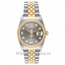 Replica Rolex Datejust Diamond Dial 16233 36MM