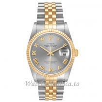 Replica Rolex Datejust Yellow Gold Roman Dial 16233 36MM