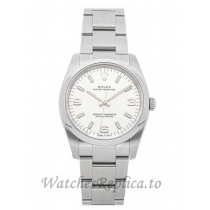 Rolex Replica Air King Ladies White Dial 34mm 114200