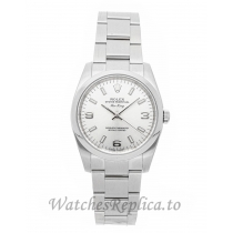 Rolex Replica Air King Silver Dial  Ladies 34mm 114200