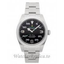 Rolex Replica Air King Black Dial  40mm 116900