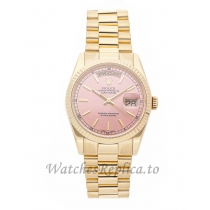 Rolex Replica Day-Date Pink Dial 36mm 118238