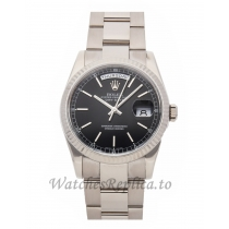 Rolex Replica Day-Date Silver Case 36mm 118239