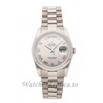 Rolex Replica Day-Date Silver Dial 36mm 118209