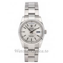 Rolex Replica Day-Date Silver Dial 36mm 1182392