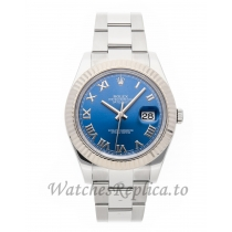 Rolex Replica Datejust II Blue Dial 41mm 116334