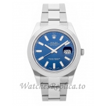 Rolex Replica Datejust II Blue Dial 41mm 41mm 116334