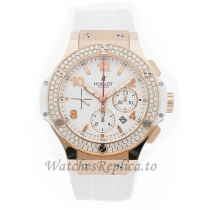 Hublot Replica Big Bang Chronograph Porto Cervo Rubber Ladies 41mm 341.PE.230.RW.114