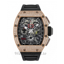Richard Mille Replica Felipe Massa Titanium and Rose Gold Diamond Pave Chronograph 50MM M01107018