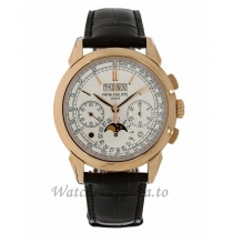 Patek Philippe Replica Grand Complications Rose Gold Perpetual Calendar Chronograph 41MM Watch 5270R001