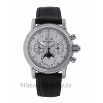 Patek Philippe Replica Grand ComplicationsWhite Gold Perpetual 37MM Watch 5004G014