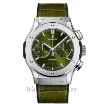 Hublot Classic FusionTitanium Green Chronograph 45MM Watch 521.NX.8970.LR