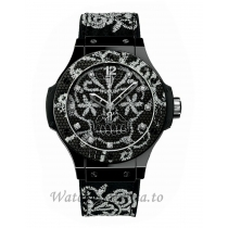 Hublot Replica Big Bang Broderie Ceramic 41MM Watch 343.CS.6570.NR