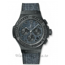 Hublot Replica Big BangJean Ceramic Black Diamond Chronograph 341.CX.2740.NR.1200