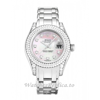 Rolex Pearlmaster Mother of Pearl Pink - Diamond Dial 80359-29 MM