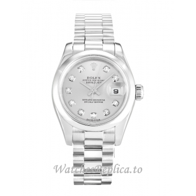 Rolex Datejust Lady Silver Diamond Dial 179166 26MM