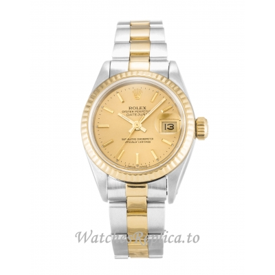 Rolex Datejust Lady Champagne Dial 69173 26MM