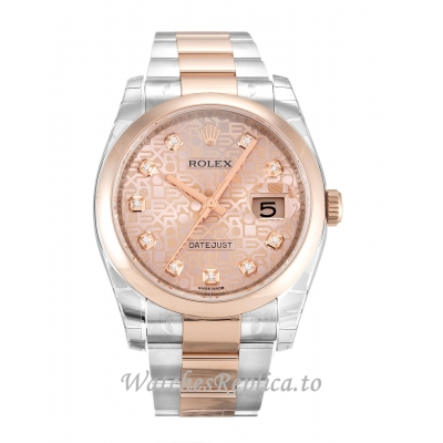 Rolex Datejust Rose Gold Diamond (Jubilee) Dial 116201 36MM