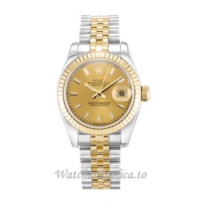 Rolex Datejust Lady Champagne Dial 179173 26MM