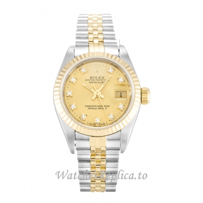 Rolex Datejust Lady Champagne Diamond Dial 69173 26MM