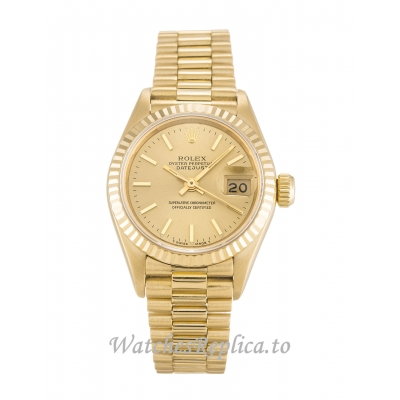 Rolex Datejust Lady Champagne Dial 69178 26MM
