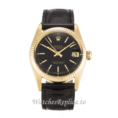 Rolex Mid Size Datejust Black Dial 6827 31MM