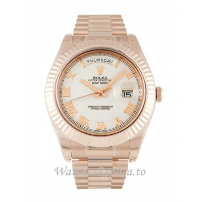 Rolex Day Date II Ivory Dial 218235 41MM