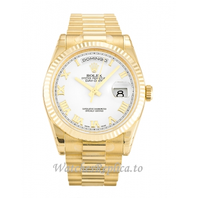 Rolex Day-Date White Dial 118238-36 MM